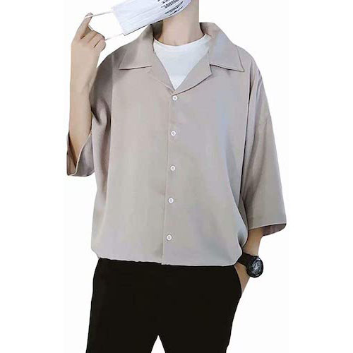 YIMANIE/オープンカラーシャツ