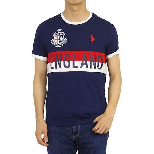 POLO Ralph Lauren/ビッグポニー刺繍リンガーTシャツ