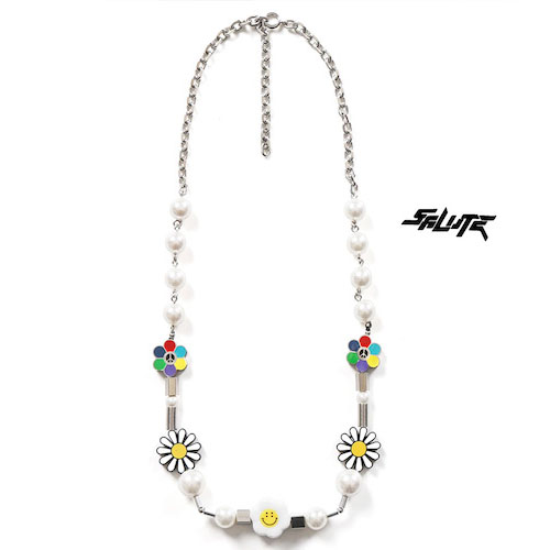SALUTE/FLOWER ANARCHY NECKLACE